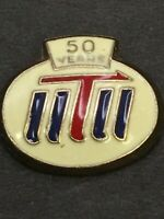 Vtg United Transportation Union 50 Year Lapel Tack Pin Sheet Metal Workers Back