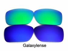 Galaxy Replacement Lenses For Oakley Breadbox Blue&Green Polarized