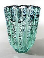 Pierre d' AVESN / Daum France Jugendstil / Art Deco Silber-Overlay Glas Vase