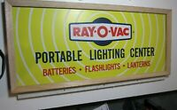 cool old store display Ray-O-Vac Vintage Battery Sign Lighting Center