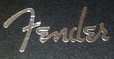 FENDER SPAGUETTI silver mirror pegatina sticker headstock guitar aufkleber