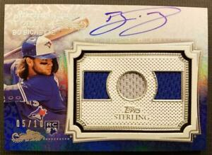 BO BICHETTE RC 2020 TOPPS STERLING ON CARD Triple Jersey AUTO Autograph 05/10