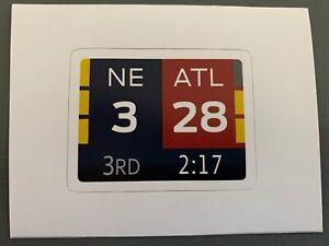 Patriots Super Bowl LI Sticker Scoreboard 28-3 34-28 New England Atlanta