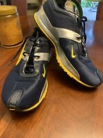 Mens Nike Air Size 8 Navy Silver Yellow Running  Shoes Zoom