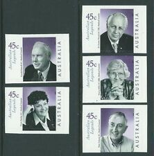 AUSTRALIA 2002 LEGENDS OF AUSTRALIA UNMOUNTED MINT, MNH .SELF ADHESIVE
