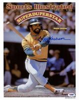 REGGIE JACKSON SIGNED 11x14 SPORTS ILLUSTRATED PHOTO OAKLAND A'S ITP PSA/DNA