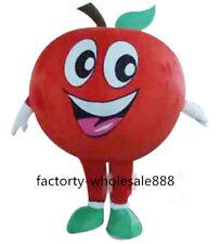 Advertising Apple Fruit Mascot Costume suit Adults Fancy dress fruit festival