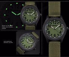 Reloj de Pulsera INFANTRY Hombre Cuarzo Analógico Fecha Luminoso Verde Nylon Deportivo Militar UK