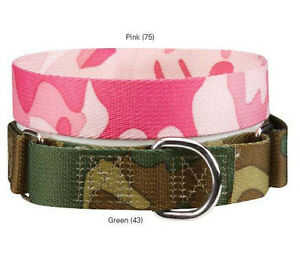 Guardian Gear Camo Nylon Martingale Dog Collar Camouflage Green Pink Pet Collars