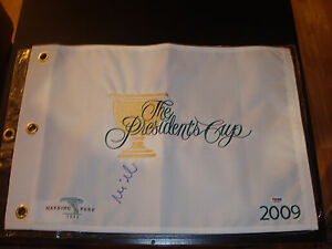 Mike Weir Signed 2009 President's Cup Golf Flag PSA/DNA Harding Park #1