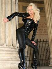 Lackbolero verni veste bolero noir brillant vinyle Léviathans
