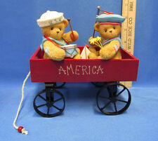 Cherished Teddies Resin Figurine Kurt & Brody America Celebrate Life Love Friend