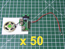 50pcs - DIY KIT 200sec LIGHT SENSOR MP3 device voice music sound record chip