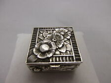 Chinese Export Silver Pillbox /Pillendose aus Silber 925