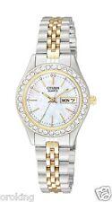 Citizen EQ0534-50D Ladies 2-Tone SS Quartz Watch-Day/Date-Round MOP Dial-100%NEW