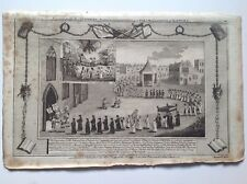 More details for old antique print 1784, procession to st mary's church oxford, martyrs