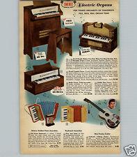 1959 PAPER AD Toy Play 6 String Elvis Presley Guitar Emenee Electric Organs