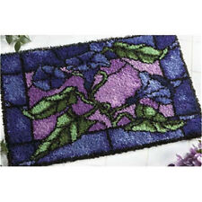 DIY Latch Hook Kit Craft about 33''*25''' Rug Carpet Needle Gift Flower