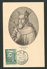 PORTUGAL MK 1955 KÖNIGE KÖNIG KING ROI REI MAXIMUMKARTE MAXIMUM CARD MC CM d5472