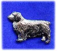 Clumber Spaniel Nickel Silver Brooch Pin Jewelry*