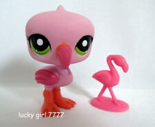 Littlest Pet Shop *NEW*  2-Tone Pink FLAMINGO Mommy & Baby #1890 FREE SHIPPING
