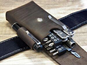 EDC pouch leatherman Leather belt pouch Multitool sheath EDC organizer tool bag