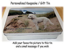 Personalised Keepsake Tin, Personalised Gift Tin, Large Tin, Any picture message