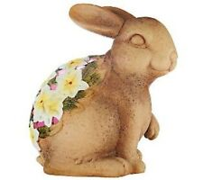 Qvc Home Reflections Indoor Outdoor Ceramic Luminary w/ Flameless Candle - Bunny