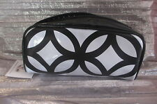 PHILOSOPHY BLACK & WHITE   ZIPPERED  COSMETIC POUCH...NEW