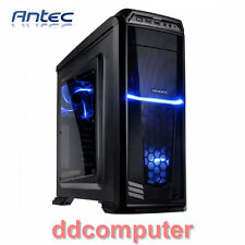 Antec GX330W Windowed ATX Mid Tower Gaming Case Black No PSU for Desktop PC