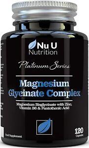 Magnesiumglycinat mit Vitamin B6 Zink Pantothensäure 250mg Elementares Magnesium