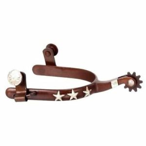 Tough-1 Men's ABR with Raised Silver Stars Western Spurs Horse Tack 78-9729