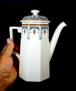 Beautiful Royal Doulton Claremont Coffee Pot, Orange Circa 1912