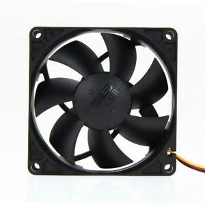 Mute 80mm Computer PC Case 3/4 Pin Cooling Fan with Screw Pad for PC CUP