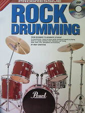 PROGRESSIVE ROCK DRUMMING by Andy Griffiths with CD Beginner to Advanced Student