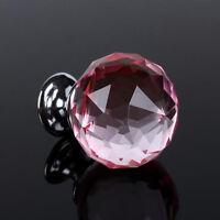 Cupboard Cabinet Crystal Handle Pull Door Knob Diamond Glass Pull Handle
