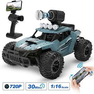 RC Cars DE36W 1/16 Remote Control Car + 720P HD FPV Camera Racing Monster Truck