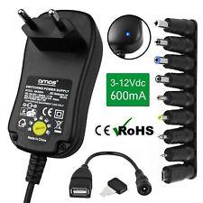 600ma 0,6 universal de la UE 2 Pin Adaptador Ac/dc Red enchufe fuente de alimentación cargador USB