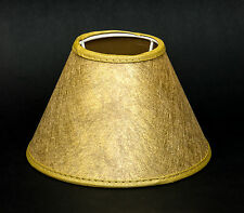 Lampenschirm Gold Gewebe Glänzend Tischleuchte Kronleuchter Nachttisch E14 15cm