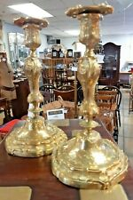 A Pair of 19th Century French Brass Candlesticks