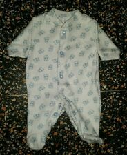 BABY BOYS Sz 00000 white & blue TARGET winter one-piece CUTE! PUPPY DOGS!
