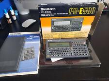 SHARP PC E500 Pocket Sehr Gute Zustand  funktioniert einwandfrei! + OVP und buch