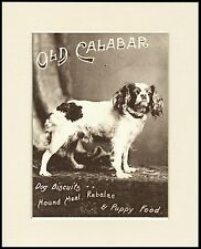 CAVALIER KING CHARLES ENGLISH TOY SPANIEL DOG FOOD ADVERT PRINT READY TO FRAME