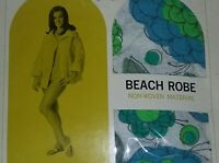 Vintage 60's Mod Rare Paper Beach Robe Swimsuit Cover-up