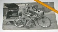 More details for original real photographic postcard motorcycle speedway scrambler