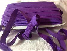 16mm Dark Purple Foe Elastic  3 Meters Length  HairBows Hair Bands Sewing