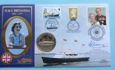 1997 HMY Brittania FDC Final Voyage Signed PAUL GREENING Flag Officer Benham SHS