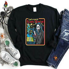 LET'S WATCH SCARY MOVIES Halloween Sweatshirt Sanderson Witch Gift  Friends 1732