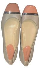 """Calvin Klein """"Pash"""" Flats Gray w/Peach Patent Leather Toes, Hardware 7 7M NWOB"""