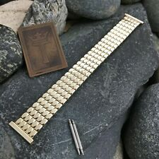 18mm 16mnm 1950s 10k Gold-Filled Foster USA Expansion nos Vintage Watch Band